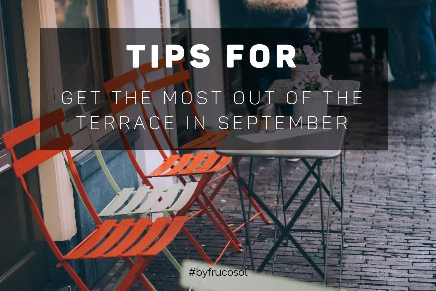 Sácale el máximo partido a la terraza en septiembre
