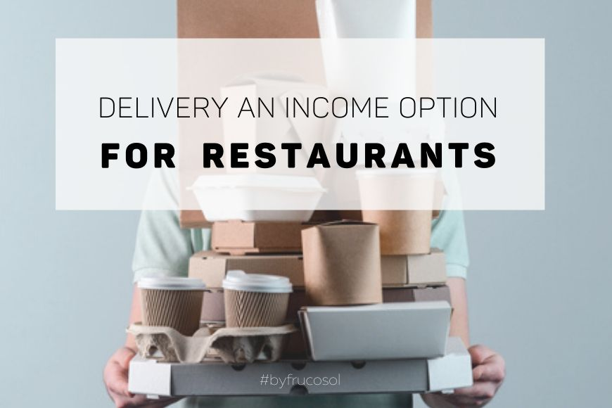 Delivery an income option for restaurants.