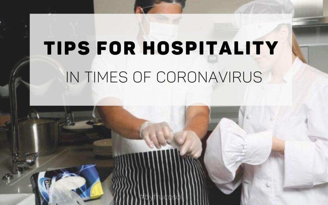 Consejos para la hostelería en tiempos de coronavirus.